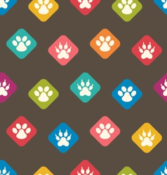 Seamless Texture with Colorful Traces of Cats Dogs vector image