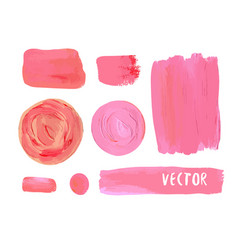Set cosmetic stains texture acrylic paint vector