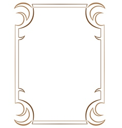 Simple vertical two-layer frame on white vector