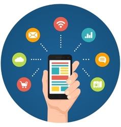 Smartphone apps infographics vector