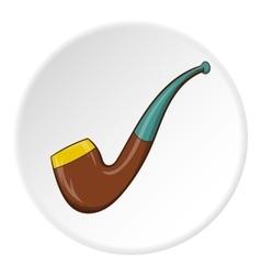 Smoking pipe icon cartoon style vector image