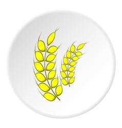 Spikelets of wheat icon cartoon style vector image