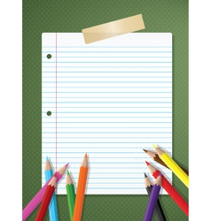 Stationery background vector image