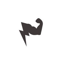 strong arm bolt power geometric symbol logo vector image