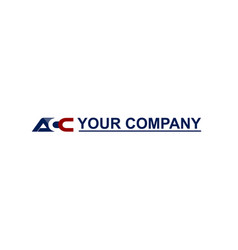 Strong initial acc logo template vector