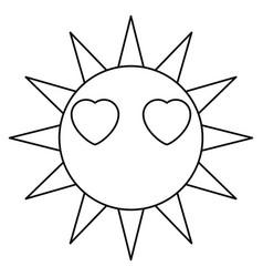 Sun funny cartoon vector