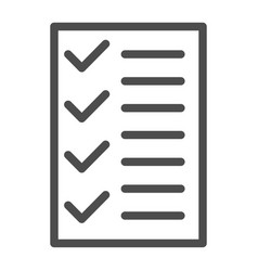 test line icon to do list vector image