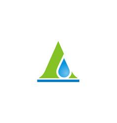 Triangle water drop logo vector