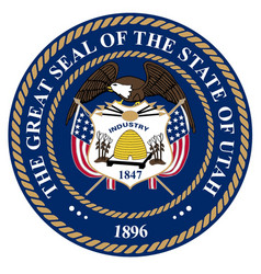 Utah state seal vector