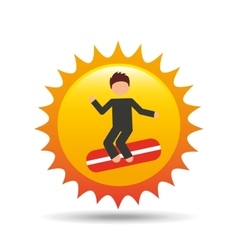 vacation surf beach recreation game vector image