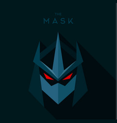 villain antihero mask hero superhero flat style vector image