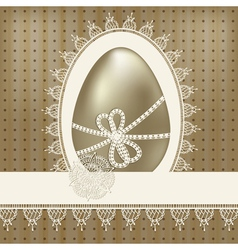 vintage easter greeting vector image