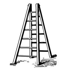 vintage engraving set a ladder vector image