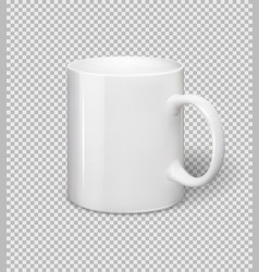 white ceramic mug realistic cup on vector image