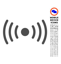 Wi-fi point icon with set vector