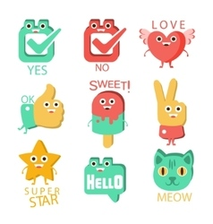 Words And Corresponding Cartoon vector