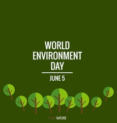 World environment day concept with tree background vector image