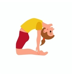 Yoga kids poses vector image