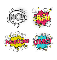 comic speech bubbles set with different emotions vector image vector image