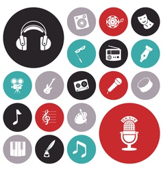 icons tiled art music sound vector image