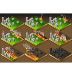 Isometric Fire Disaster Classifications Scale vector image vector image