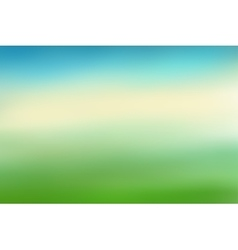 Blue and green blurred background vector image vector image