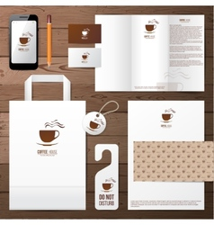 coffee house identity template vector image