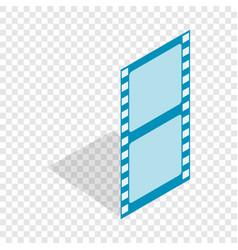 film strip isometric icon vector image