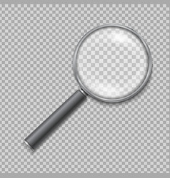 Magnifying glass realistic isolated vector image