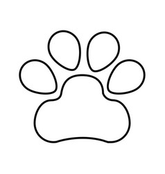 paw footprint isolated icon vector image