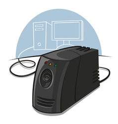 voltage stabilizer vector image vector image