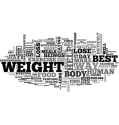 best ways to lose weight text word cloud concept vector image vector image