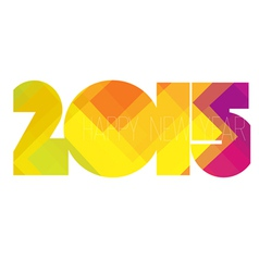 happy new year 2015 colorful vector image