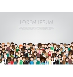 Large group of people vector