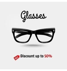 Realistic glasses sale banner vector