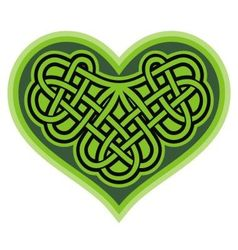 Shamrock heart Celtic symbol vector image vector image