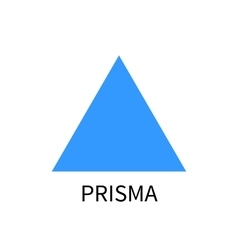 Blue prism logo template prisma sign on vector image vector image