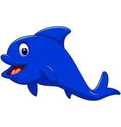 Funny dolphin cartoon for you design vector