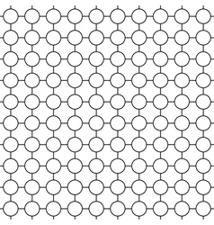 Round simple seamless pattern vector image vector image