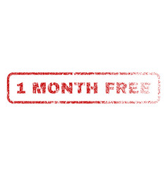 1 month free rubber stamp vector