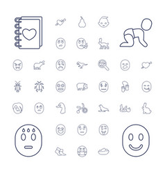 37 cute icons vector