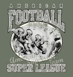 American football team vector