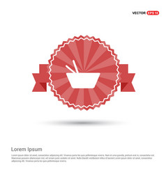 Asian food icon - red ribbon banner vector