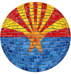 Ball with arizona flag vector