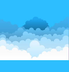 beautiful colorful background with blue sky vector image
