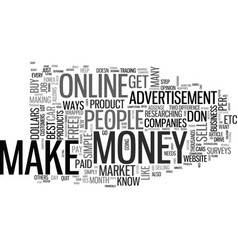 Best ways to make money online text word cloud vector