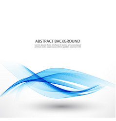 Blue waveabstract white background with blue wavy vector