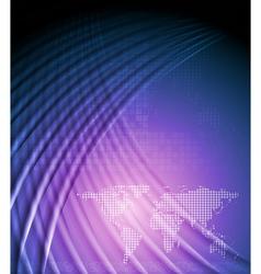 Bright wavy tech design vector image
