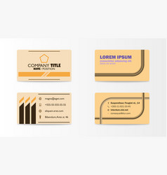 Business card with abstract background eps10 vector