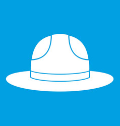 Canadian hat icon white vector